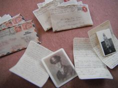 just love these miniature WWII love letters