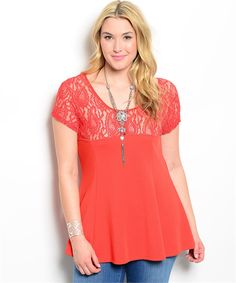 $20 Red Lace Peplum Plus Size Top | Cali Boutique | FREE shipping to the U.S. | Unbeatable boutique prices | Sizes up to 3x
