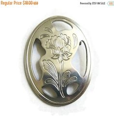 "❘❘❙❙❚❚ Spring Sale ❚❚❙❙❘❘     This is a wonderful #Vintage Kirk Stieff signed Cut Out Pewter Flower Brooch or Pin!   This brooch measures just shy of 2 1/4"" high by 1 3/4"" w... #vintage #jewelry #fashion #ecochic #vogueteam"