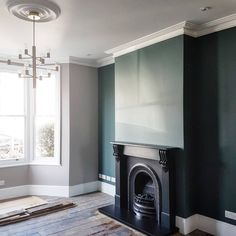 🤞 After the first and second slate hearths cracked shortly after install, we got a specialist in this time. Our builders Living Room Inspiration, Blue Living Room, Living Dining Room, Living Room Diy, Living Room Designs, Living Room Color, Room Design, Slate Hearth, Victorian Living Room