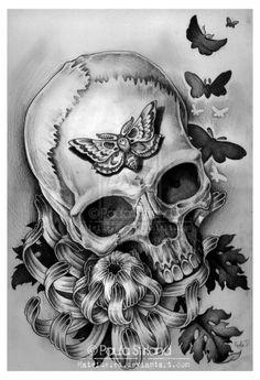 Dusty Skull by hatefueled.deviantart.com on @deviantART