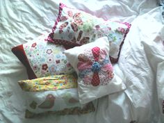 Pile of homemade cushions