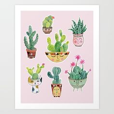 Collect your choice of gallery quality Giclée, or fine art prints custom trimmed by hand in a variety of sizes with a white border for framing. Cactus Craft, Cactus Pot, Buy Cactus, Commercial Art, Tech Accessories, Fine Art Prints, Wall Art, Wallpaper, Artist