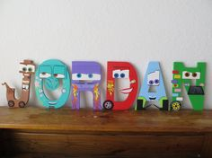 Hand painted wooden letters that POP! Each letter can be designed to fit your childs favorite Disneys Cars character. All letters and accessories