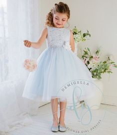 pale blue flower girl dresses - Google-søk