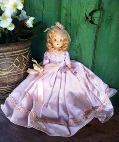 Mid century hard plastic 7 fashion doll dressed in