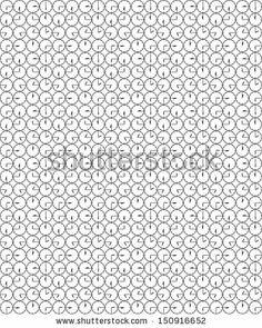 Clock seamless pattern  by jeedlove, via Shutterstock