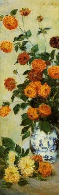 Dahlias , 1883 painting, aClaude Monet paintings reproduction, we never sell Dahlias , 1883 poster