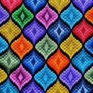 Resultado de imagen para bordado florentino bargello