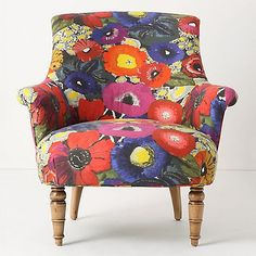 floral chair poetic wanderlust tip; a few quirky statement pieces can make a room more soulful- think accessories - this is that great vintage cuff ( in chair form! Silla Art Deco, Eclectic Chairs, Elsie De Wolfe, Floral Chair, Funky Furniture, Floral Furniture, Eclectic Furniture, Leather Furniture, Colorful Furniture