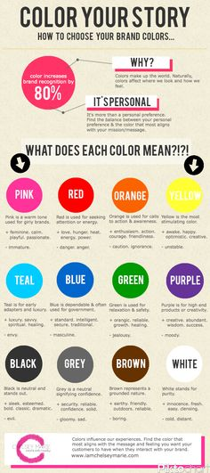 Color Your Story | Choosing colors for your brand.