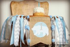 Winter Bear Wonderland Snowflake Highchair BannerCelebrate your babies first birthday and cake smash with this festive fabric highchair banner! Simply tie or use clear packing tape to affix it to babies highchair, wall, mantel, or anywhere you w. 1st Birthday Party Decorations, 1st Birthday Parties, Birthday Banners, Bear Birthday, Baby First Birthday, Birthday Highchair, High Chair Banner, Fabric Strips, Party Photos