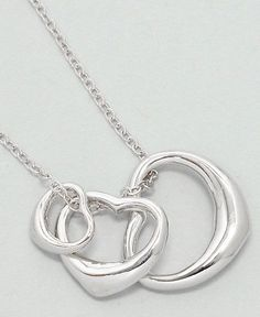 Trinity Heart Necklace in Silver