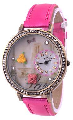 Pink girly watch