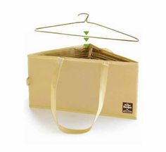 Keep clothing hangers organized with this hanger hamper and make it easy to keep them in your laundry room or closet!