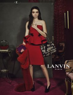 Loving both the dress and the campaign #lanvin