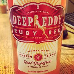 Deep Eddy Ruby Red- talk about refreshing summer vodka. Mix with prosecco and you are good.to.go!