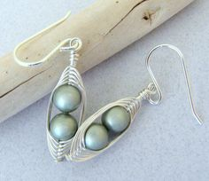 Two Peas in a Pod Peapod Herringbone Wire Wrapped by SilverSmack