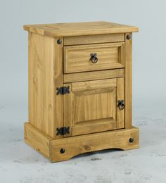 3 piece set of aztec wax pine finish bedroom furniture consisting of a 2 door arch top wardrobe a bedside cabinet and a 4 drawer chest thatu0027s simply