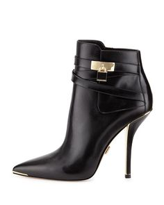 X2BG6 Michael Kors Averie Pointed-Toe Bootie