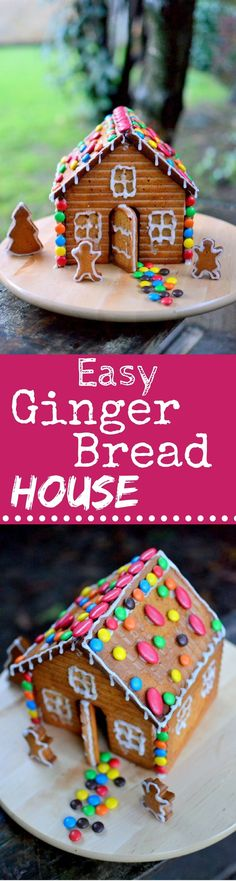 We just made our first Super Easy Gingerbread House! A Simple one, but Pretty and oh so Fun to make with kids! Now it's your turn!