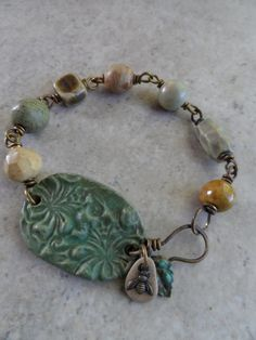 Sweet Honey ...Stoneware Clay and Brass by juliethelen on Etsy