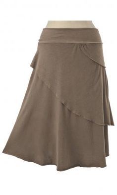 Sasha Skirt; This is our triple-layered Sabra Skirt without the faux sash. Its knee-skimming length flatters any body type; Fabric: 100% organic cotton; Made in the U.S.A