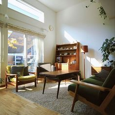 Dream Home Design, House Design, Interior Architecture, Interior And Exterior, Mid Century Living Room, Interior Decorating, Interior Design, Dream Apartment, Living Room Inspiration