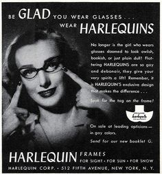 1943 - No longer is the girl who wears glasses doomed to look owlish, bookish, or just plain dull!  By clotho98, via Flickr
