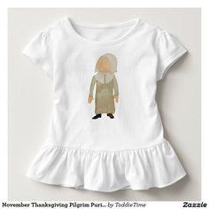 November Thanksgiving Pilgrim Puritan Toddler Girl Shirts