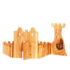 Natural wood castle blocks. LOVE these!