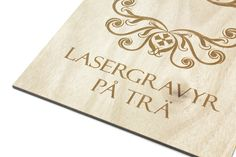 Lasergravyr på trä blir riktigt snyggt. | Laser engraving on wood produces really nice results. Laser Cutting, Nice, Nice France