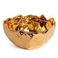 J Schatz Ridge Nesting Bowls Gold