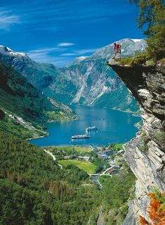 Geirangerfjorden, Norway. How could you not love the Norwegian fjords?!