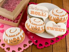 """Continuing on from my previous donut cookie post, these cinnamon roll cookies are just as """"sweet"""". Okay, maybe I'm going overboard with all these cookie puns, but aren't they what make Valentine's Day more fun? You get a sweet treat, a good laugh, and a kind sentiment your friends and family will surely cherish. What …"""