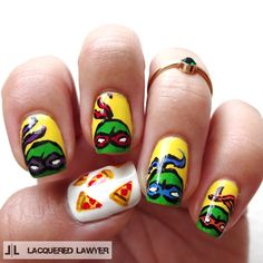 Lacquered Lawyer | Nail Art Blog: Heroes in a Half Shell | Teenage Mutant Ninja Turtle Nails