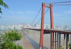 Bridge over Yangtze River, Zhongxian, China