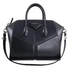 101d74ac0d48 Givenchy Black Leather Antigona 3-D Animation Bag Medium Red fabric lined  interior
