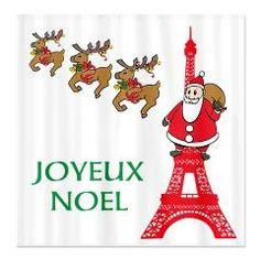 Joyeux Noel Eiffel Tower French Christmas cards 20 pack w ...