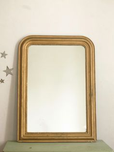 Miroir Louis Philippe moutarde