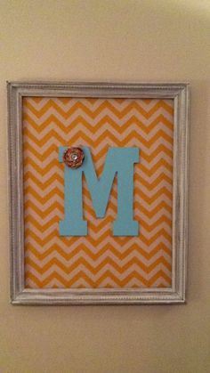 Chevron DIY wall art. For just $10