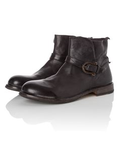 Moma Leather Boots with Buckle