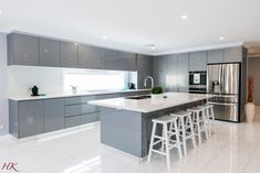 - Harrington Kitchens -Modern Contemporary - Harrington Kitchens - modern luxury kitchen design ideas that will inspire you 56 Kitchen Cabinet Design, Kitchen Remodel, Kitchen Decor, Contemporary Kitchen, Kitchen Room Design, Kitchen Furniture Design, Kitchen Layout, Modern Kitchen Interiors, Kitchen Design