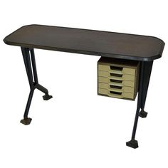 Dattilo Desk by Olivetti | From a unique collection of antique and modern desks and writing tables at http://www.1stdibs.com/furniture/tables/desks-writing-tables/