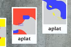 Picture of the posters designed by Anne Sylvestre for the project Aplat. Published on the Visual Journal in date 18 September 2015