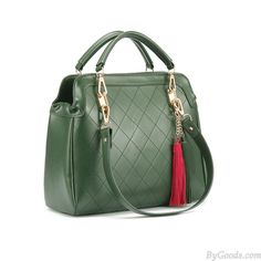 Fashion Casual Dark Green Fringed Handbag only $29.99 in ByGoods.com!