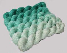Gradient Glitter    Yarn Set Hand dyed Superwash  by WoolSilkLace