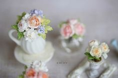 Dollhouse miniature flowers Sweet memories by CheilysMiniature