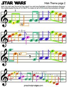 Star Wars Sheet Music by Preschool Prodigies Playground | Teachers Pay Teachers