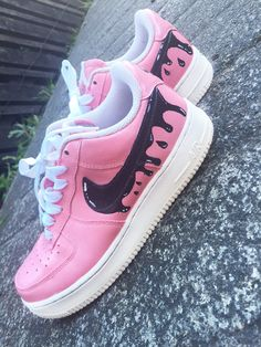 Custom Nike Pink Air Force 1 Drip Women Men by ...